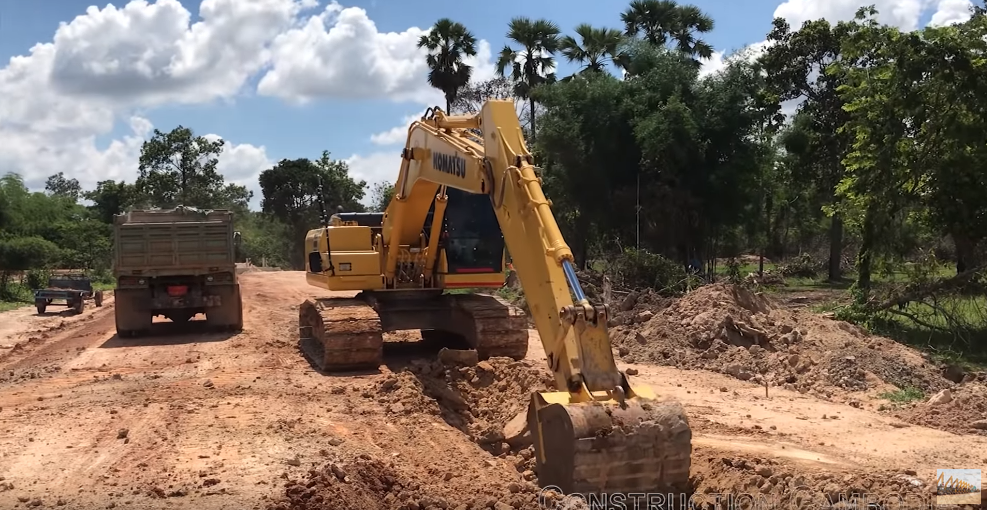 Construction Equipment Excavator Digging Working Building New Canals